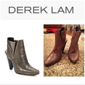 Derek Lam Tate slingback brown booties